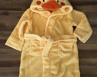Baby Microfiber bathrobe - model chick + first name embroidered in the back