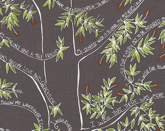 Sale Fabric Valori Wells Wishing Tree in Courage 1/2 Yard