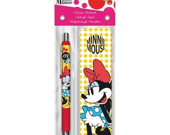 Minnie Mouse Gel Pen + Bookmark Pack Ink Works (IW3599)