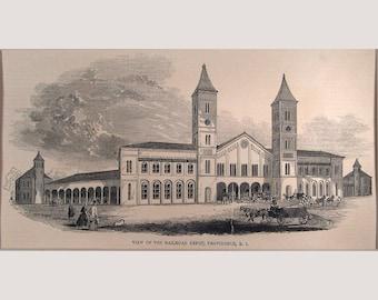Providence – Rhode Island – Railroad Depot - 1853