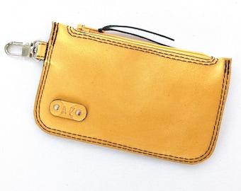 Elliot Bus Pass / Coin Wallet:  Mustard