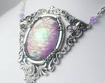 Mermaid Lilac Opal Pixie Necklace
