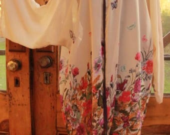 Wander in the Garden Chiffon Bohemian Kimono Jacket ONE of a KIND