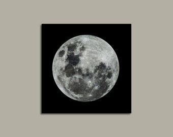 Moon Photograph on Canvas