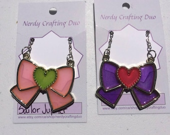 Salior Scout resin bow necklaces