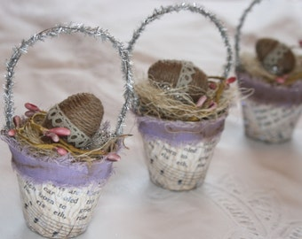 Rustic Easter Jute Wrapped Eggs Primitive Easter Decor