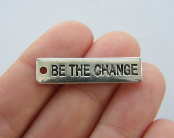 6 Be the change charms antique silver tone M733