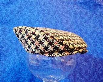 Baby Newsboy Hat Corduroy Houndstooth Baby Flat Cap Corduroy Baby Hat Infant Golf Hats 3-9 months