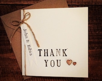 Personalised thank you card, thank you, Wedding thank you card