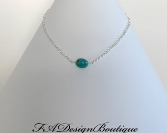 Turquoise nugget & Sterling Silver - Necklace