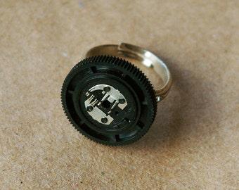 Black Sound Dial Trashion Ring