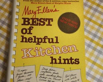 Vintage Kitchen Hints Book,Mary Ellen's Best of Helpful Kitchen Hints,Vintage Book,Vintage Kitchen Book