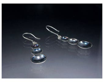 Earrings in silver Sterling and oxidation