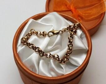 Bracelet Bracelet Gold 333 elegant Erbsketten-design rar GA106