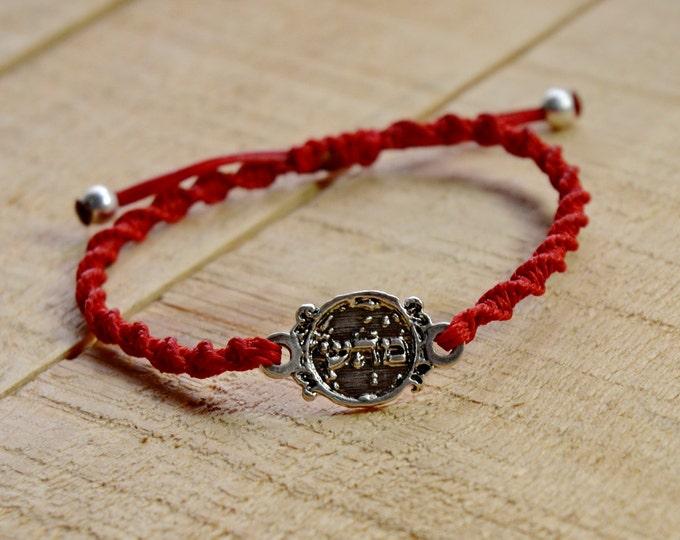 72 Names of God Hand Woven Red Charm Bracelet for Good Health, for Men and Women