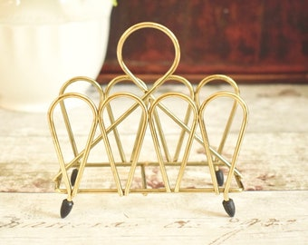 Vintage brass wirework letter rack 1960's/70's in very good condition