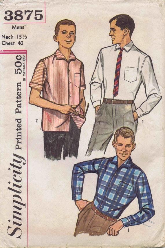 Verkauf der 1960er Jahre Herren Kleid oder Sport Kontur Shirts