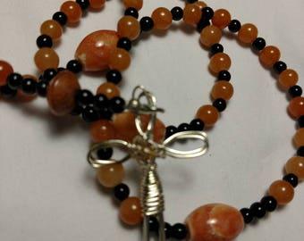 R013 Red Aventurine Rosary Traditional Catholic