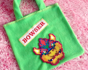 BOWSER ~ Couture Fleece Tote Bag
