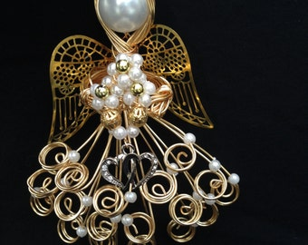 """Gold Wire Angel """"Cora"""" Love and Marriage Song 4:1"""