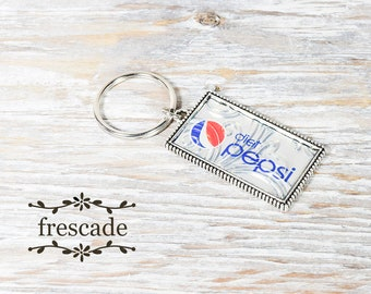 Diet Pepsi Keychain Recycled Soda Can