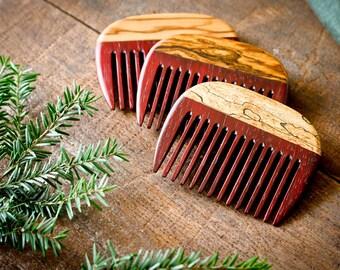 Wooden Beard Comb - Padauk