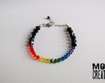 Swarovski Rainbow Pride bracelet