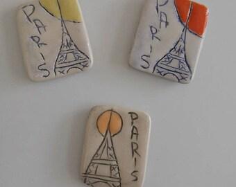 Magnets Paris Tour Eiffel (par 3)
