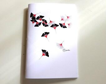 Notebook illustration Ginkgo Biloba, Japan design, botany, flowers
