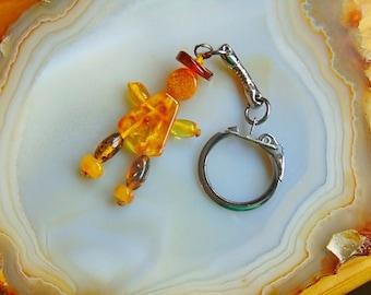 Baltic amber keychain, amber key chain, amber keychain, gemstone keychain, natural amber, baltic amber, natural amber, keychain, amber charm
