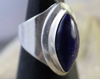 Ring with pure Silver 925 and Lapis Lazuli stone