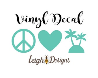 Palm Tree Decal, Car Decal, Yeti Decal, Laptop Decal, Vinyl Car Sticker, Sticker, Window Sticker, Car Decal, Custom Decal, Vinyl Car Decal