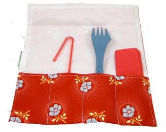 SporkSleeve (Instant Download) PDF Pattern- aGreenSleeve, Utensil Holder, Fork/Spoon Holder, School Lunch, Picnic Pouch