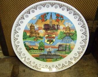 Ohio Plate Ohio Souvenir Plate Ohio State Souvenir plate Buckeye State Plate