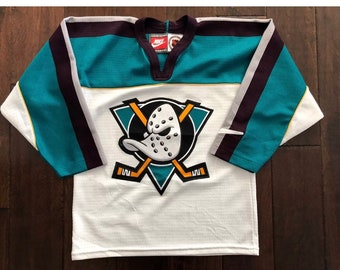 Vintage ANAHEIM MIGHTY DUCKS Stitched Jersey Youth/Boys Lg