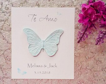 25 Seeded Butterfly Cards - Te Amo