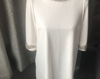 1960's style dress with amazing cristal detail