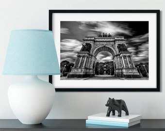 Grand Army Plaza - New York Photography, Black and White, Architecture, Wall Art, NYC, Fine Art Print, Urban Art, Home Decor