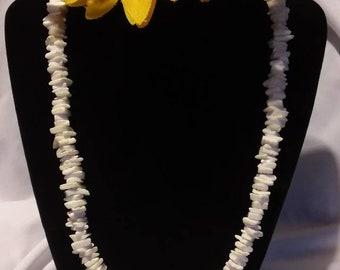 White Puka Shell Necklace