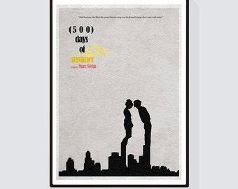 500 Days of Summer Minimalist Alternative Movie Print & Poster