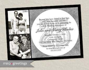 25th Anniversary Invitation - Silver Wedding Anniversary Party Invite (Printable Digital File)