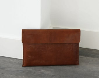 "Leather Macbook 13"" Sleeve, MacBook 13 Pro, Office Bag, Padded, Leather Sleeve, great for a gift"