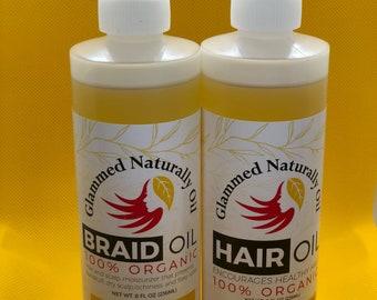 8oz HAIR & BRAID OIL Bundle