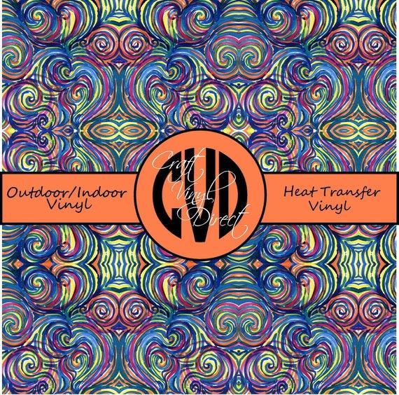 Beautiful Patterned Vinyl // Patterned / Printed Vinyl // Outdoor and Heat Transfer Vinyl // Pattern 125
