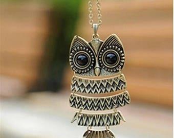 Antique Owl Necklace