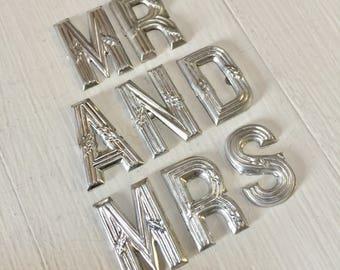 Choose! French Vintage Letters, Cake Decoration, Wedding, Birthday, Celebration