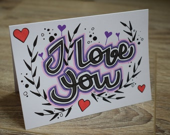 postcard Valentine message card