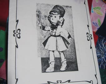 "Vintage TONI 14"" Doll Pattern #1651-2 Majorette Outfit..will also fit other dolls....Fashions to Fit..Reproduction....Never Used...#165"