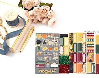 Autumn Memories // Weekly Planner Sticker Kit
