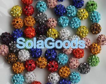 20/50/100pcs /lots white micro pave clasy disco shamballa beads spacer, diamond bead,shamballa bead, crystal rhinestone bead, disco bead